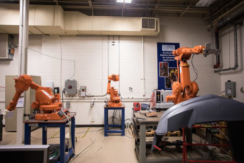 ABB Industrial robots at the Southwest Research Institute.