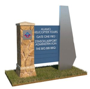 Directory signage will be placed close to the parking lot at Stinson Airport.