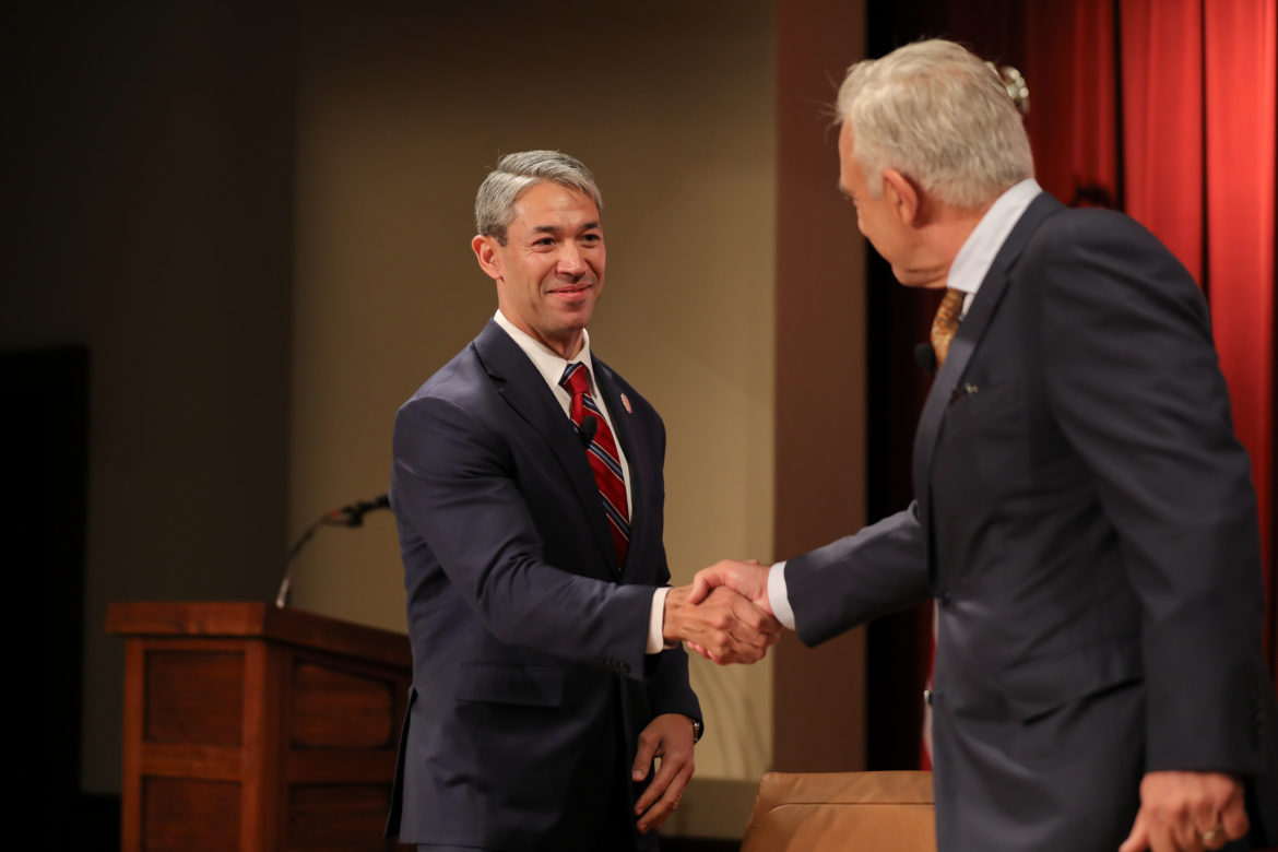 Mayor Ron Nirenberg and Robert Rivard discuss the biggest challenges facing San Antonio during a conversation at the Pearl Stable.