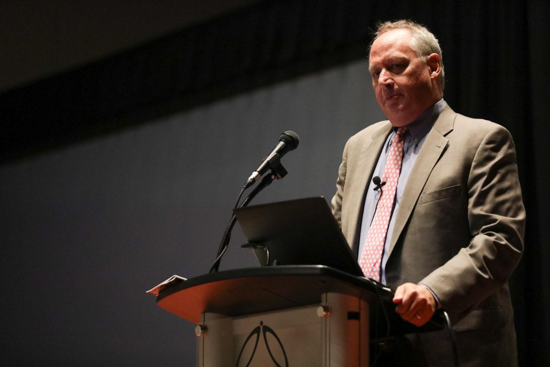 President of UTSA Taylor Eighmy gives the keynote address.