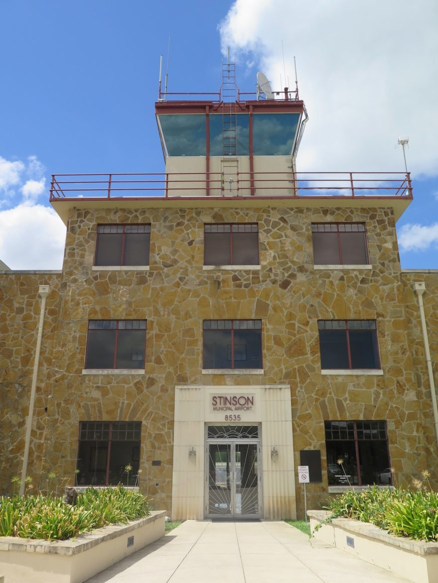 Stinson Airport's main entrance is located at 8535 Mission Rd.