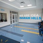 The entryway to IDEA Ingram Hills.