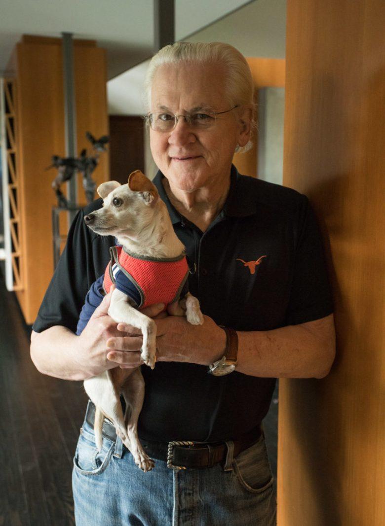 John Seals and his daughter's dog, Ajax.