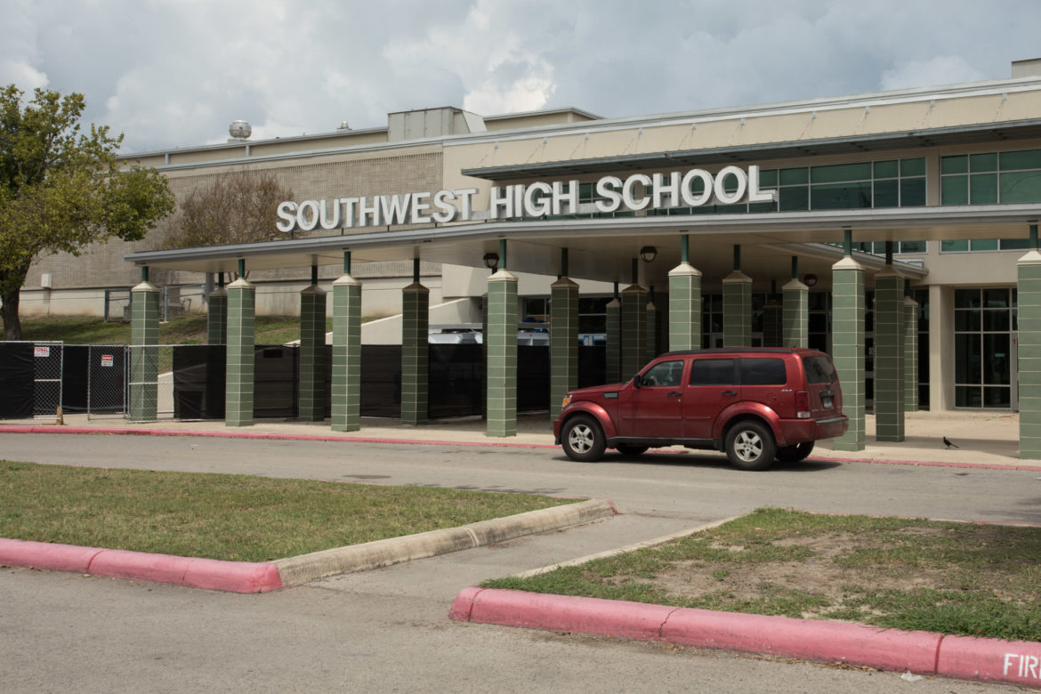 The front entrance to Southwest High School.