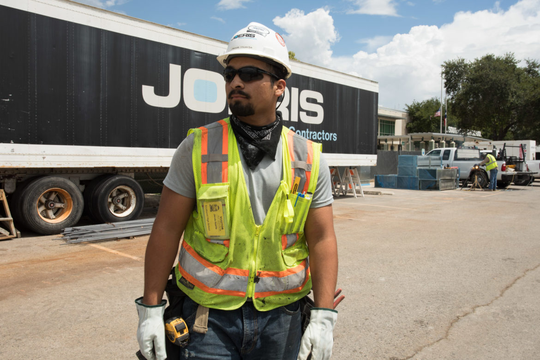 Jacob Huerta, a previous SA Works Intern and currently a carpenter helper at Joeris.