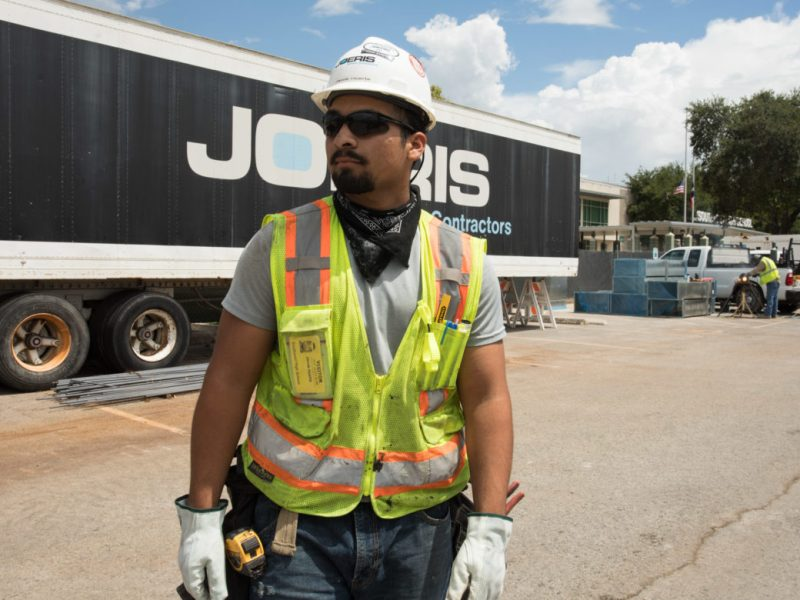 Jacob Huerta, a previous SA Works Intern and currently a carpenter helper at Joeris.