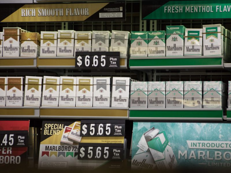 Cigarettes for sale at Molina's San Antonio Country Store.