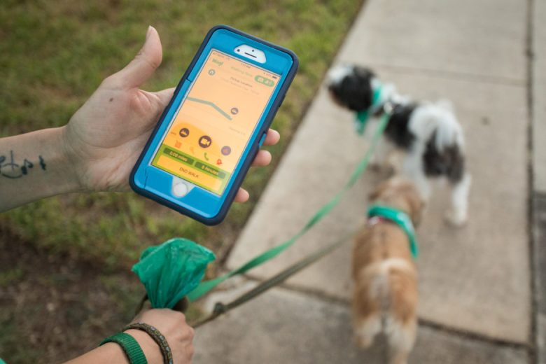 """Brittany """"Brimo"""" Morales uses the Wag! app to track her walk."""