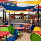 The outside seating area of StreetFare SA.