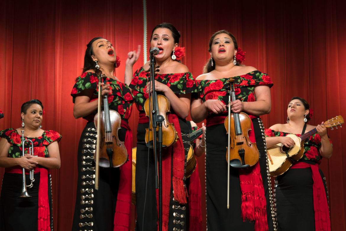 All-female mariachi group Las Coronelas performs at the 2017 Mariachi Lab event.