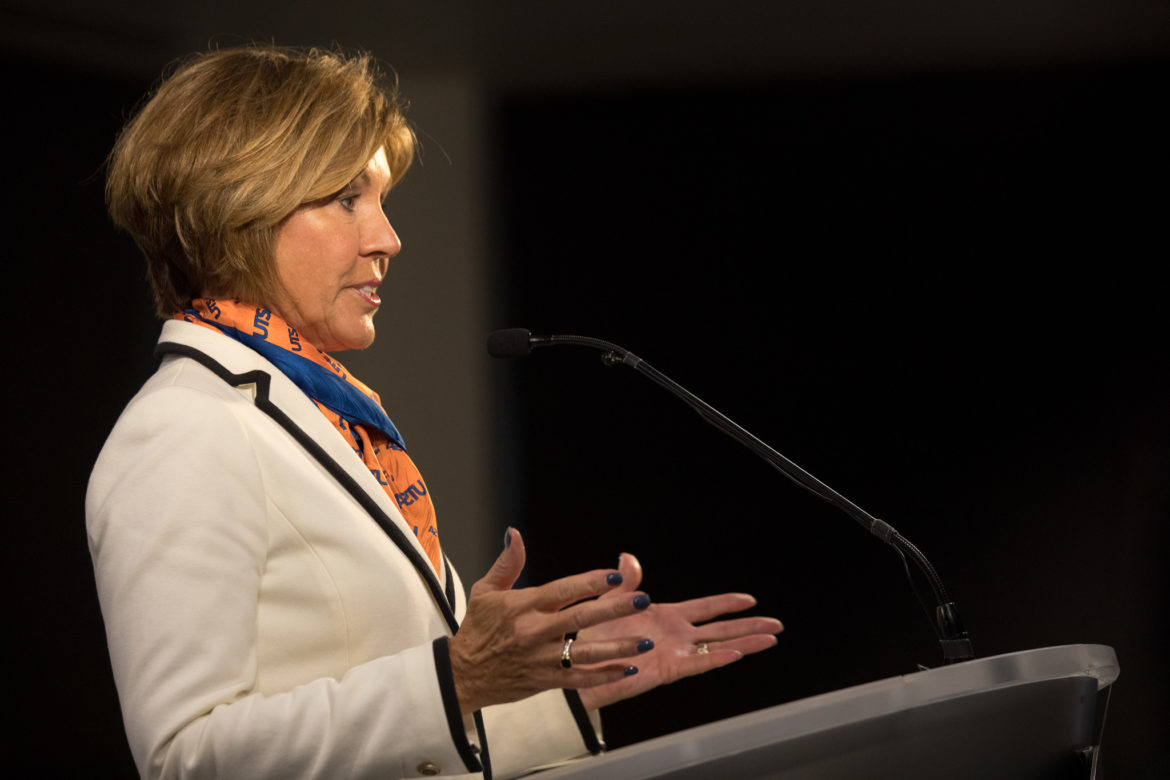 San Antonio City Manager Sheryl Sculley speaks to the future of UTSA and downtown San Antonio.