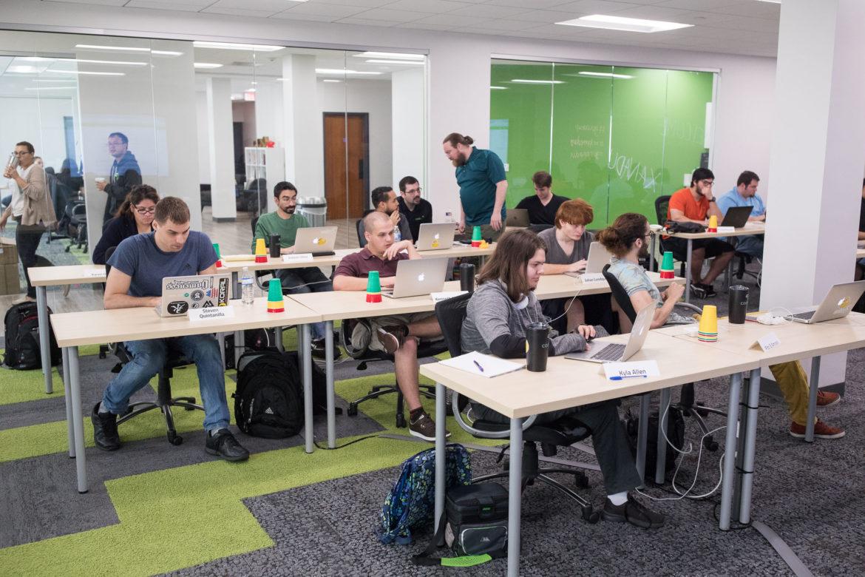 A web development class at Codeup.