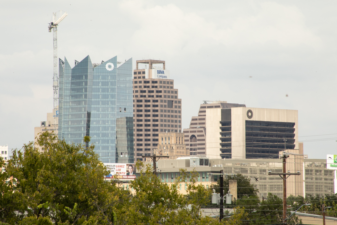 Frost Tower on the San Antonio skyline downtown.
