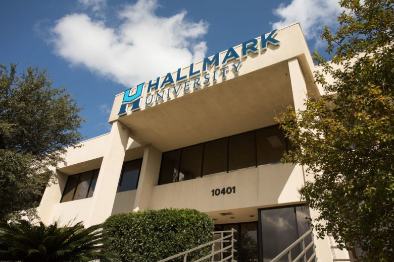 Hallmark University is located at 10401 Frontage Rd.