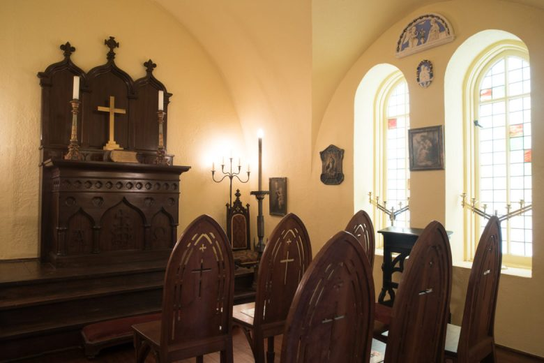 The chapel at the Maverick Carter House