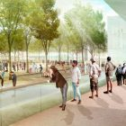 A rendering of Alamo Plaza.