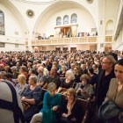 A crowd of around 1,500 attended the memorial gathering.