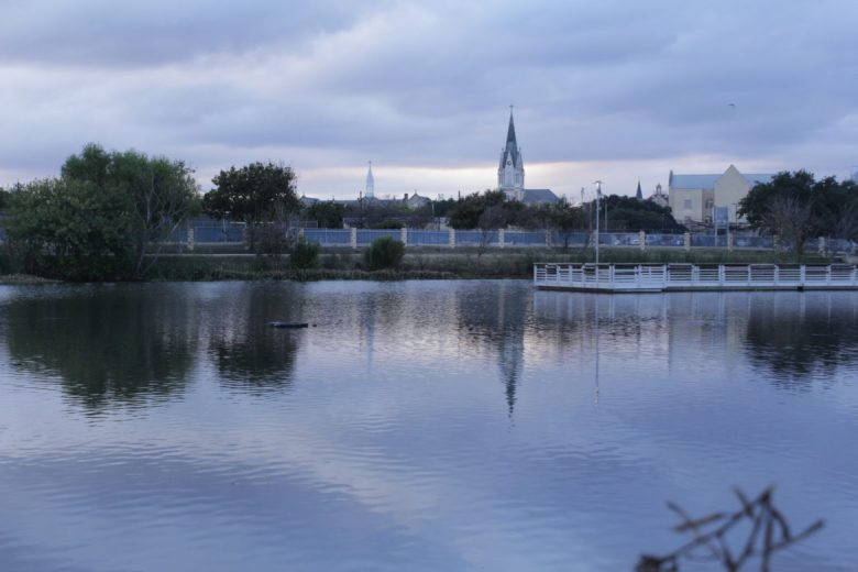Our Lady of the Lake University lies on one shore of the lake at Elmendorf Lake Park on the West Side.