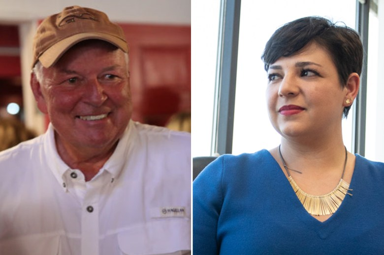 (from left) Steve Allison and Celina Montoya are battling for Texas State House seat District 121 left open by Texas Speaker Joe Straus.