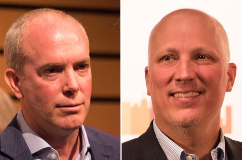 (from left) Joseph Kopser and Chip Roy are looking to fill Congressional District 21's seat left open by Lamar Smith's retirement.