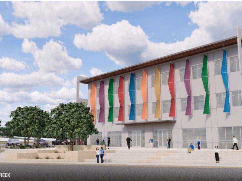 A rendering of the SAISD Administrative Building.