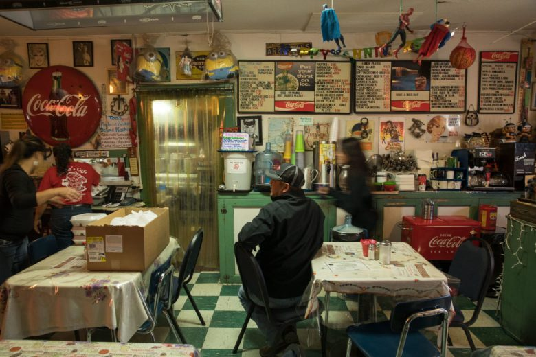 Customers, members of the family, and Maria sift in and out of the 600 square foot restaurant that has become a popular destination.