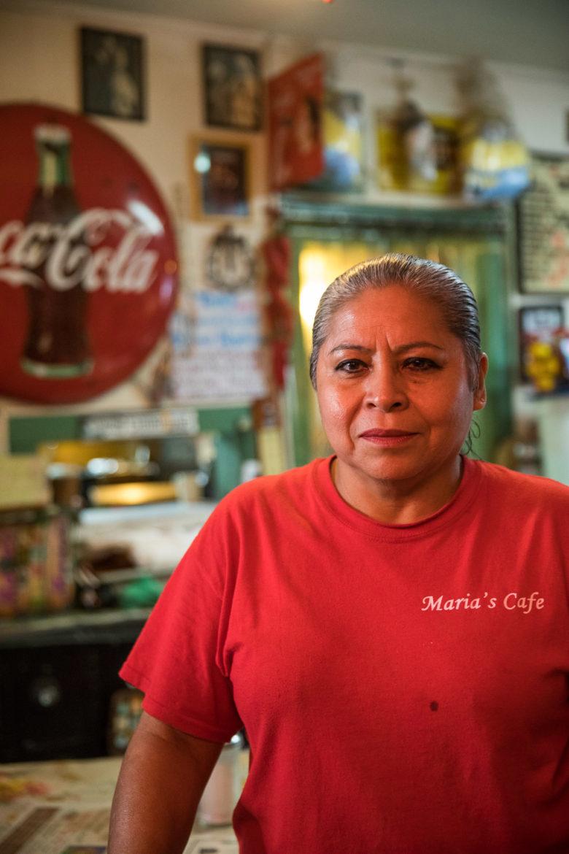 Maria Beza, owner of Maria's Cafe.