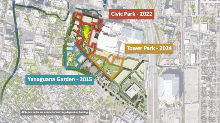 Hemisfair Park Area Redevelopment Corporation plans on asking the City for 2022 bond funding for Tower Park.