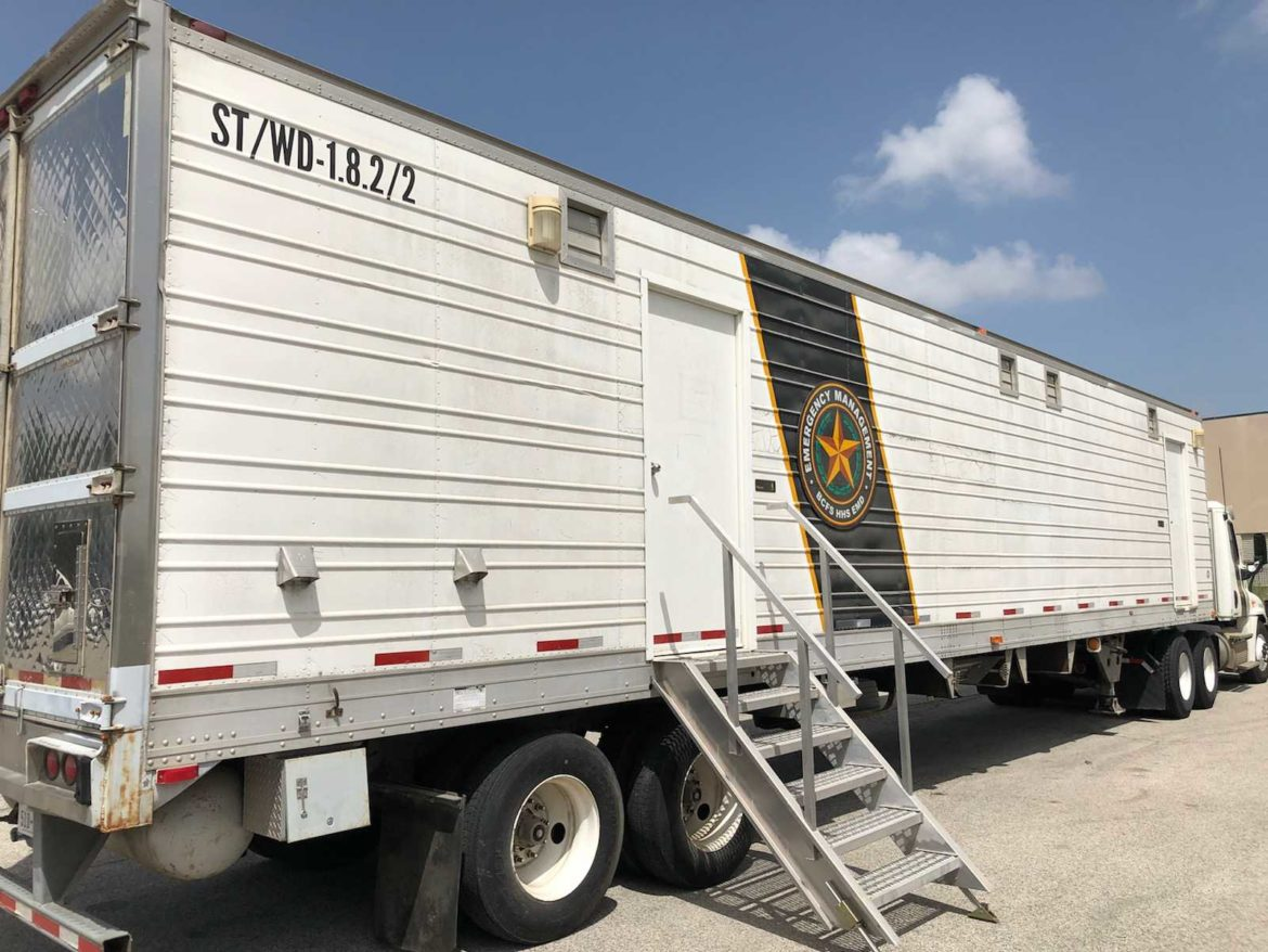 A BCFS mobile shower unit was on loan to the city of McAllen, TX for migrant relief efforts.