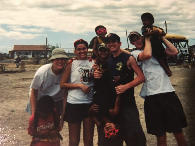 Gavin Rogers (center) during a missionary trip to Honduras in 1998 following Hurricane Mitch.