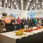 A large kitchen area at the Burns Building accommodates hundreds.