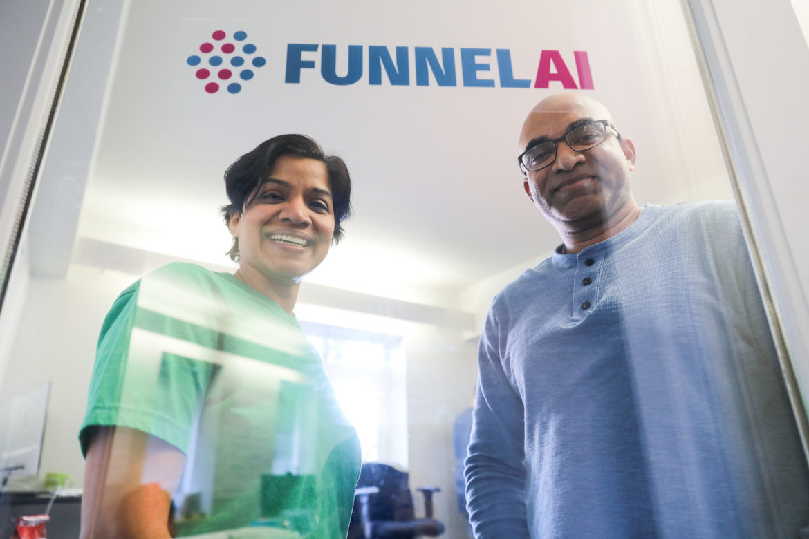 (from left) FunnelAI Co-Founders Suja Kamma and Sridhar Kamma have built a company focusing on machine learning.