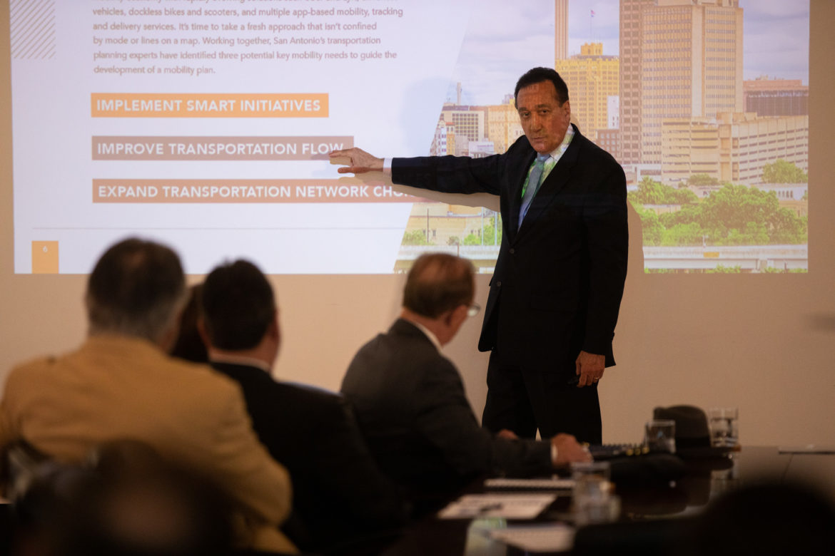 Former Mayor and ConnectSA Tri-Chair Henry Cisneros outlines the proposed framework for the transportation plan.
