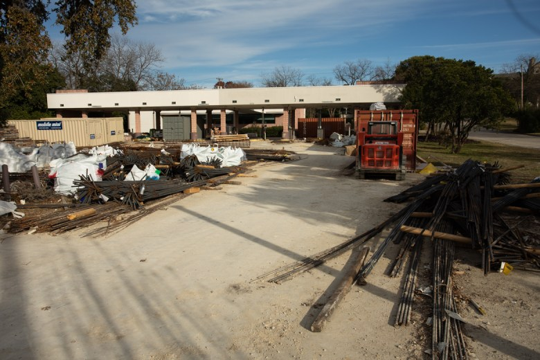 The construction site at 200 Austin Hwy.