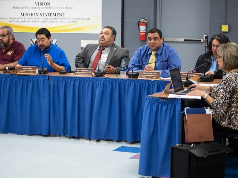 In an earlier meeting, the Harlandale Board disagrees with a report from the Texas Education Agency in its recommendation of a state appointed board of managers.