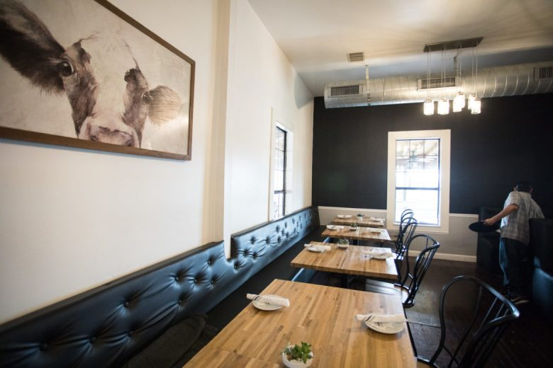 One of the two large dining areas inside Eastside Kitchenette.