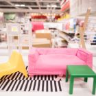 Miniature Ikea furniture is for sale in the children's section.