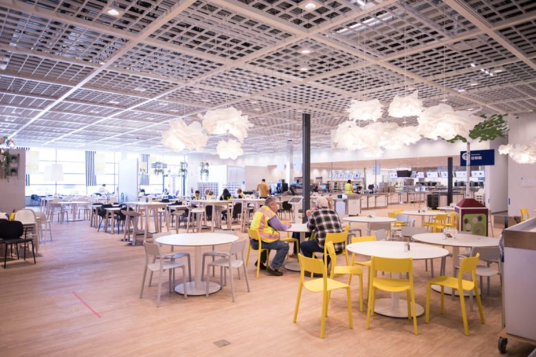 The cafeteria in Ikea.