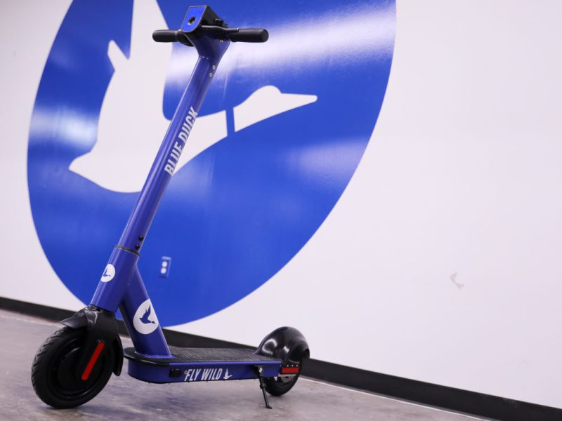 Blue Duck II features a larger more heavy duty platform for scooter riders.