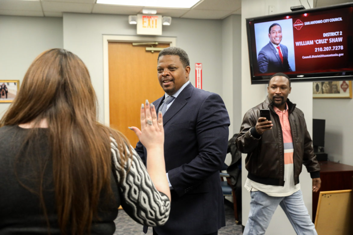 Dereck Hillyer completes his application declaring candidacy for District 2.