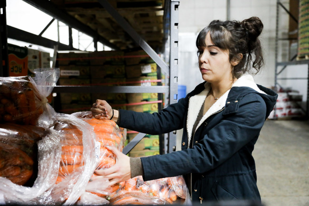 Karen Mendez of Big State Produce describes the amount of produce received and shipped from their terminal.