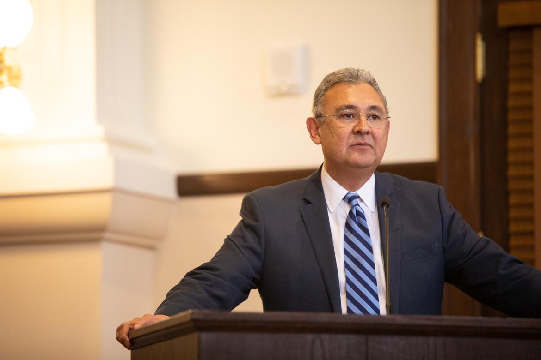 Bexar County Criminal District Attorney Joe Gonzales speaks after being sworn in.