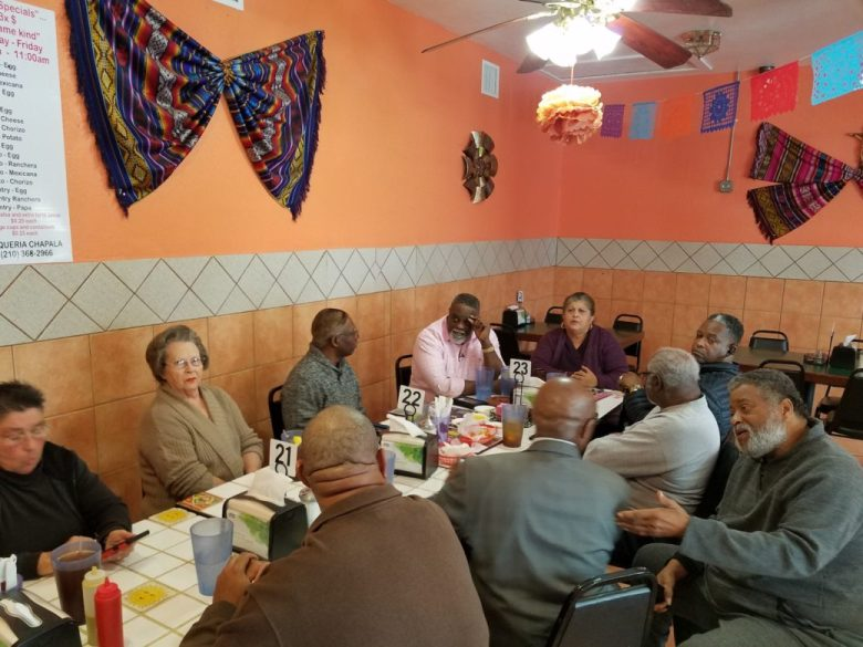 A group of East Side residents and community leaders met up at Taqueria Chapala Jalisco to challenge City Council's decision to appoint Art Hall as the interim District 2 representative.