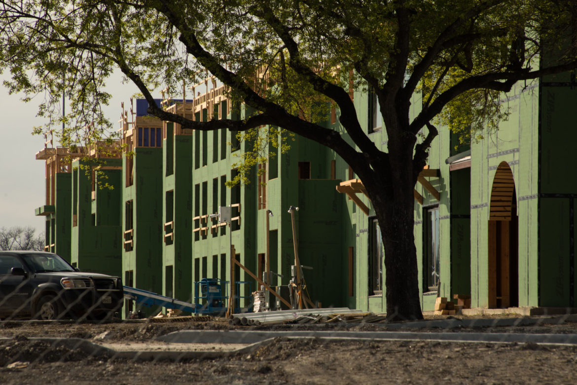 The Mission Escondida Apartments are under construction at 1515 Mission Rd.