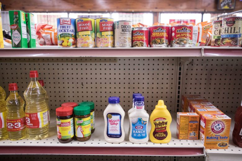 A small selection of food is available at Pik Nik Foods convenience store in District 3 at the intersection of S. Flores St. and Division Ave.