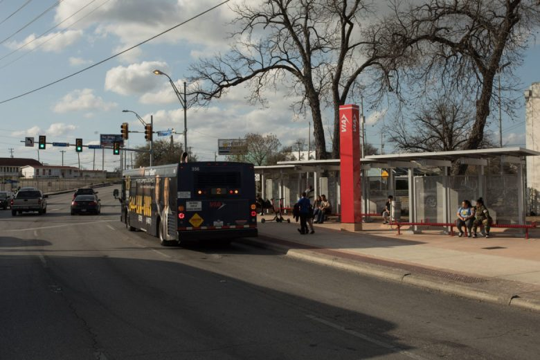 This VIA stop is located where five streets converge, giving the Five Points neighborhood its name.