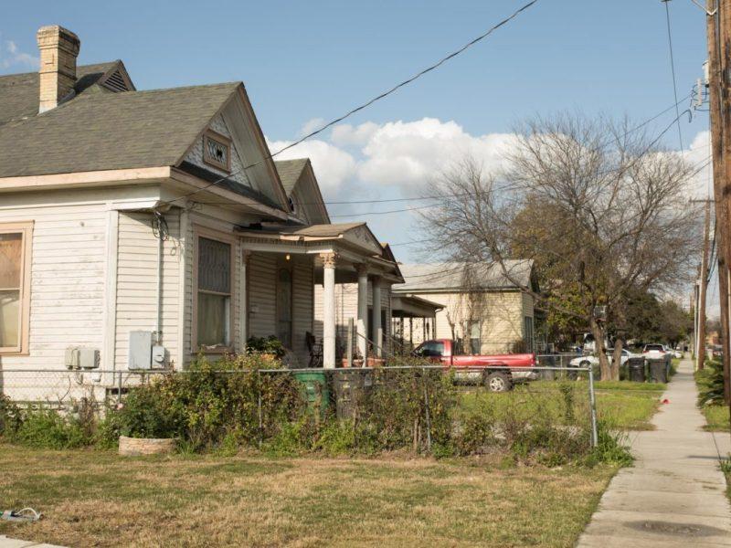 A few homes on Abe Juarez's street in the Five Points neighborhood.