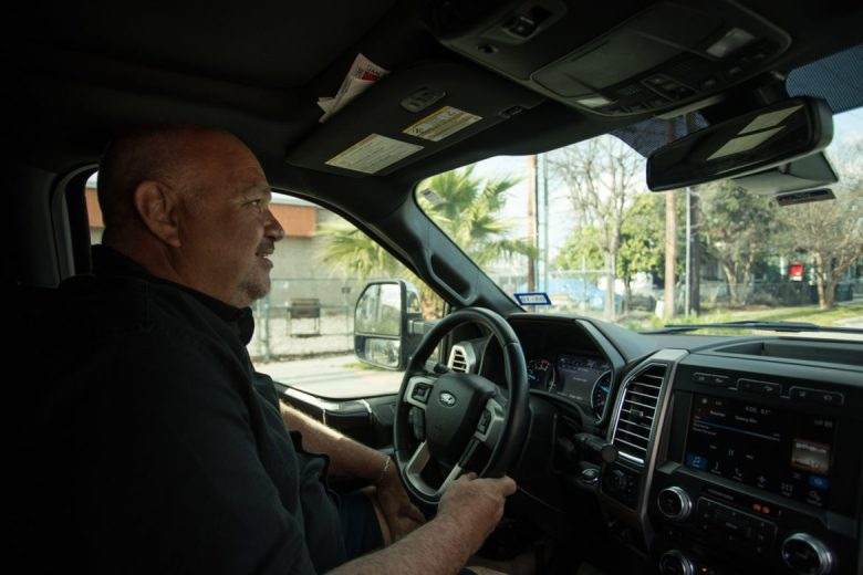 Abe Juarez gives a driving tour of the Five Points neighborhood.