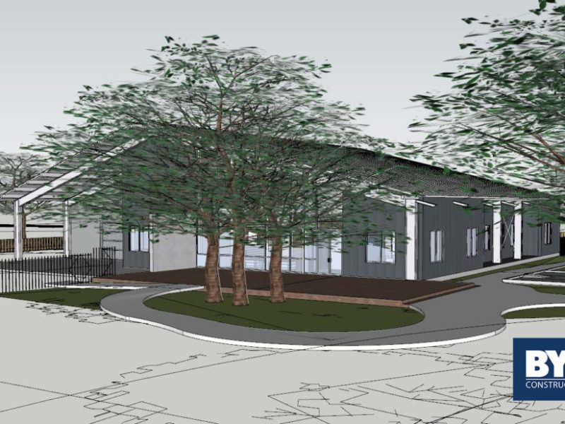 A rendering of the future Byrne Construction Services San Antonio office.