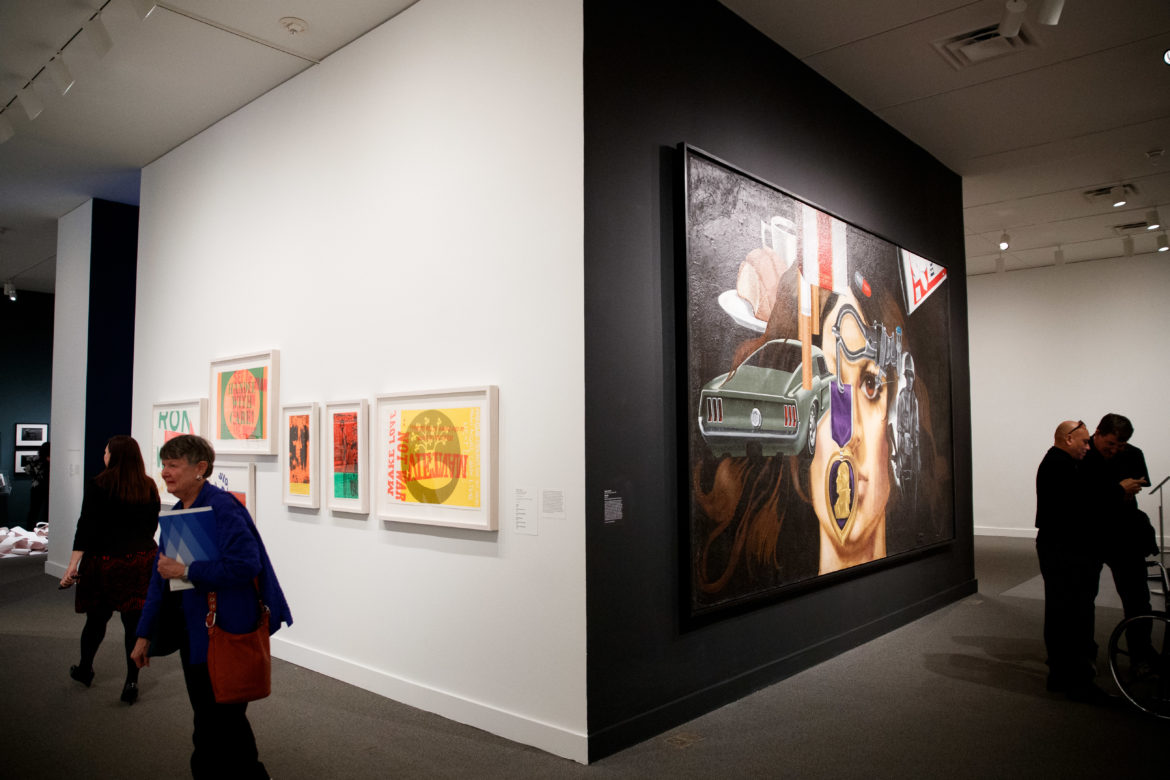 """Jesse Treviño's mural painting """"Mi Vida"""" on display in the """"Artists Respond: American Art and the Vietnam War, 1965-1975"""" show at the Smithsonian American Art Museum in Washington, D.C. on March 14 2019."""